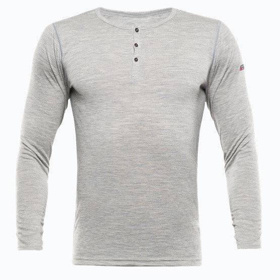 Devold Wool LS Breeze Man Button - Grey Melange