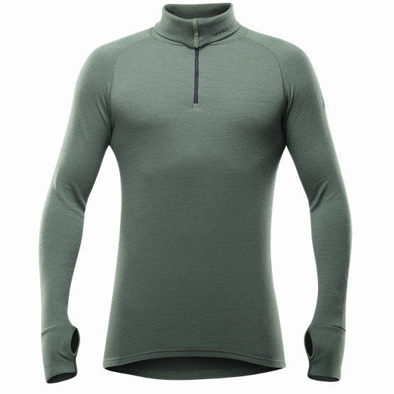 Devold Wool LS Expedition Zip Neck, Men's - Forest green