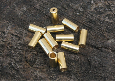 Baggie of brass ferrules, 4mm and 5mm