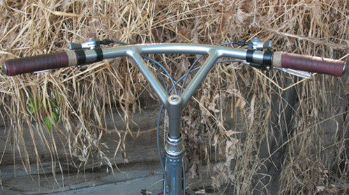 Handlebar - Nitto Bullmoose, dull bright FILLET BRAZED - 150mm reach, 190mm quill (B901R)