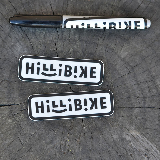 Two Hillibike Stickers