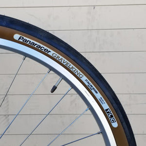 Tire - 650B, Panaracer GravelKing Slick, BROWNwall, folding