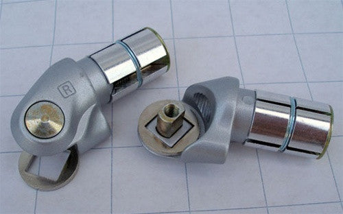 Shifter Mount - Silver Bar End Pods (Pair)