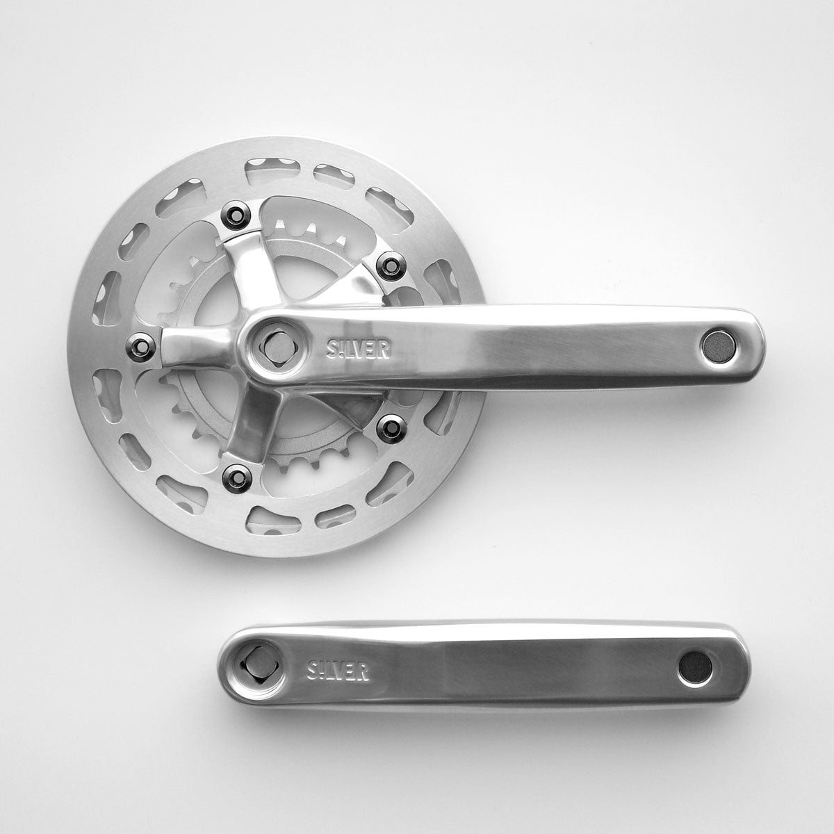 Crank - Silver - Wide/low double 38x24 (with guard)
