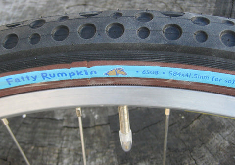 Fatty Rumpkin 650B x 41 tire, Force Field, Blue label