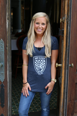 Women's Navy V-neck