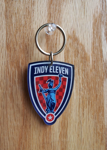 Indy Eleven Shield Key Ring