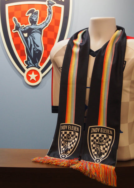Back of Indy Eleven Pride Scarf