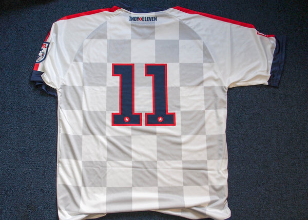 Back of Indy Eleven #11 Jersey