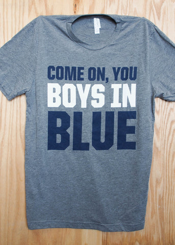 Unisex Boys In Blue Tee