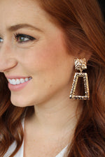Gold Statement Earrings - Clip On