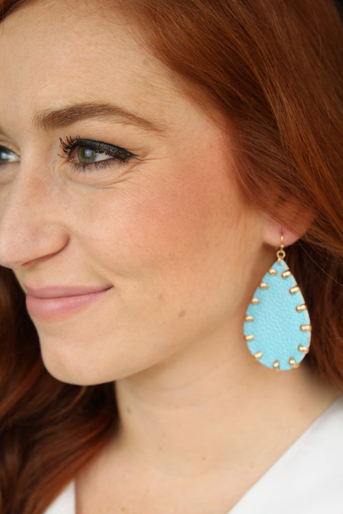 Pearly Perfect Earrings - Aqua