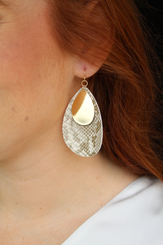 Sand Pear Earrings