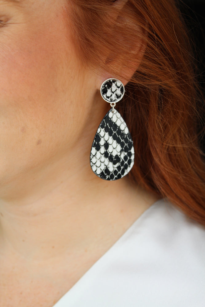 Bite Me Earrings - White