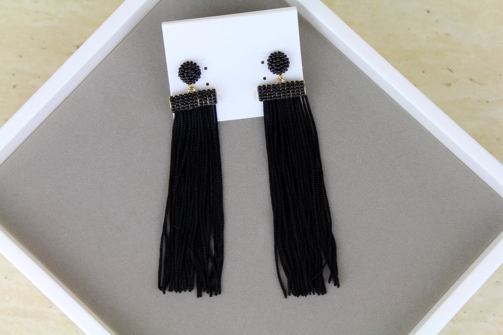 Drop Dead Gorgeous Earrings - Black