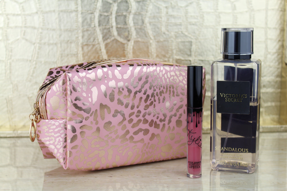 Leopard Travel Bag - Pink