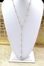 Dangle Pendant Necklace - White