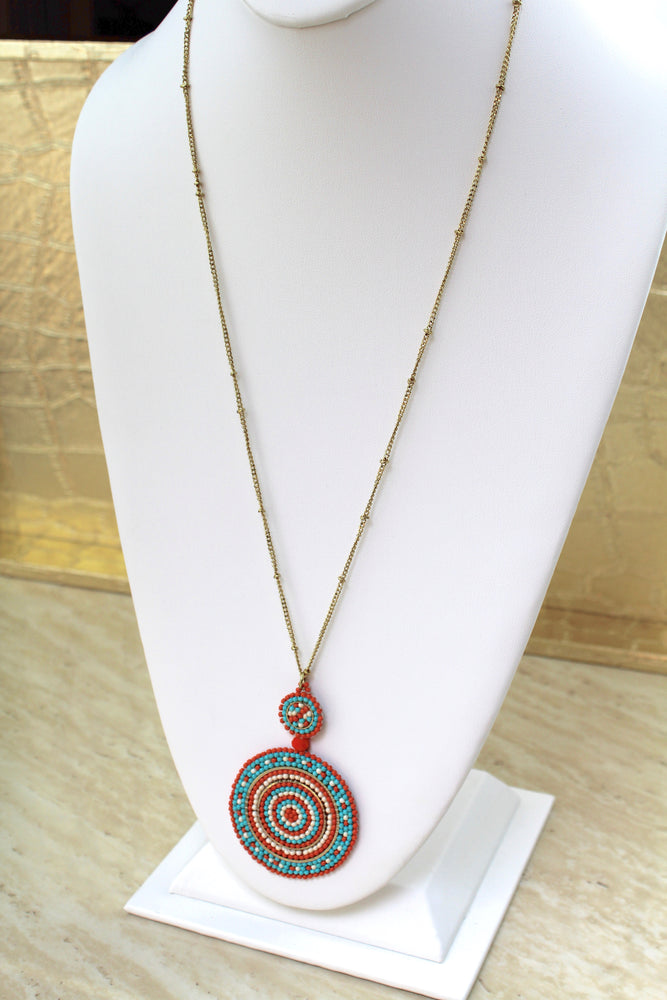 Orange Shine Necklace
