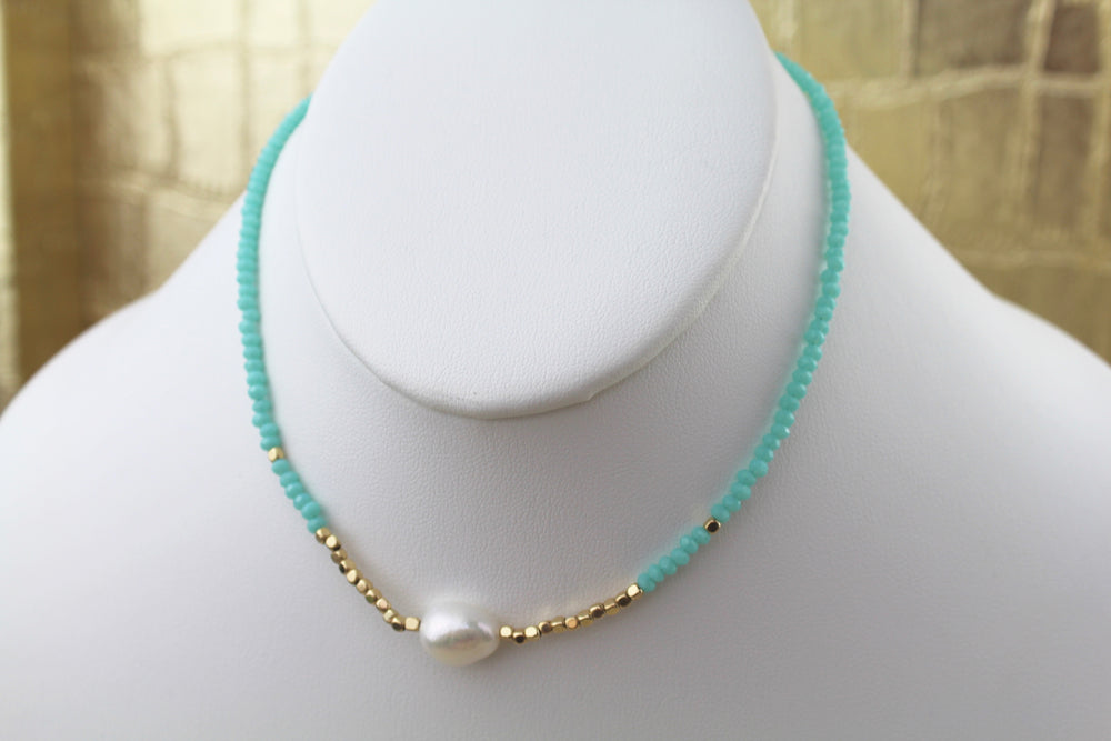 Talk It Up Choker - Turquoise