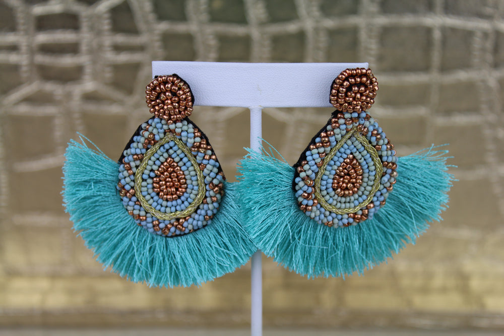 Party Time Earrings - Aqua