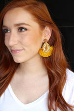 Party Time Earrings - Mustard