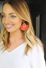Party Time Earrings - Coral