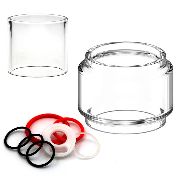 Genuine replacement glass tubes, Bubbles and spare seals for Sub-Ohm tanks. Trusted Manufacturers including Vaporesso, SMOK, Eleaf and FreeMax.