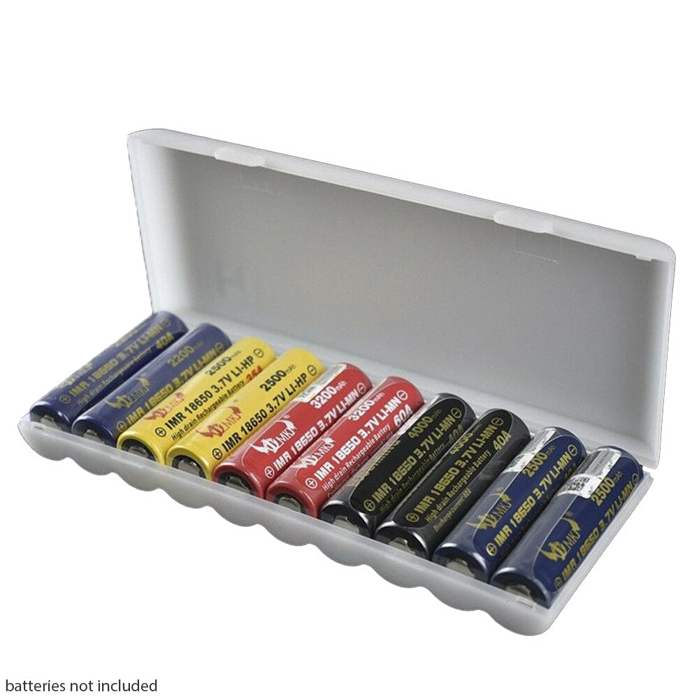 Store ten High Drain Batteries in the 10x 18650 Battery Case.