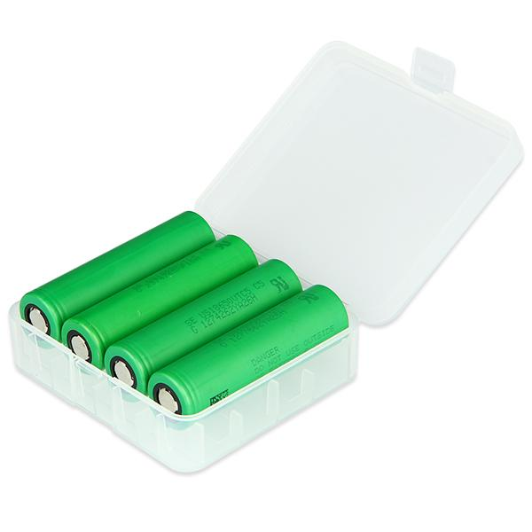 18650/26650 Hard Plastic Transparent Battery Storage Box Rechargeable Batteries Holder Box Case