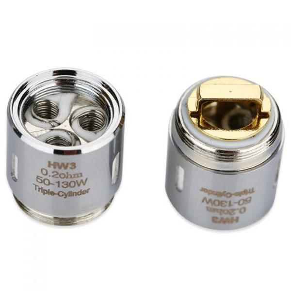 The Eleaf HW3 Triple-Cylinder 0.2ohm Head consists of Kanthal coils and will provide you with an ultra vaping experience of great flavor and great vapor production. Compatible Replacement Coil / Atomiser Head for ELLO, ELLO S, ELLO Mini, ELLO Mini XL, iKonn Total, Eleaf iKonn Total, iKonn 220, iStick Tria, Invoke, iStick PICO 25 Starter Kit