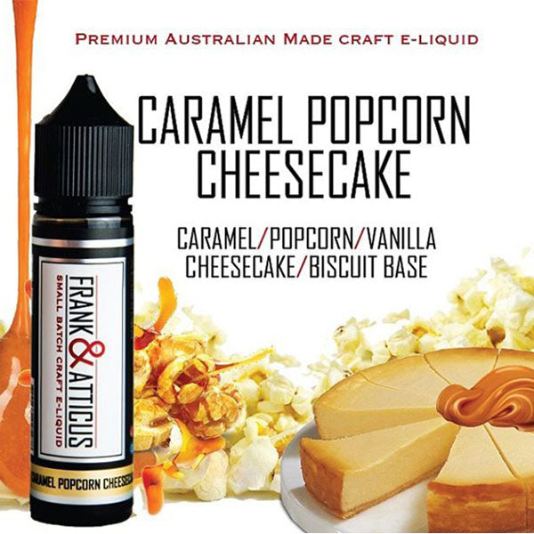 This is the best popcorn vape juice flavour we've tried. Frank & Atticus are renowned for their amazing ability to craft authentic flavoured vape juice in Australia. Flavour chasers will love the savoury delight of roasted popcorn & sweet, warm caramel.