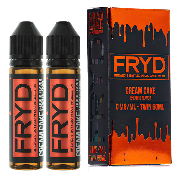 FRYD Cream Cake vape juice is a balanced butter and vanilla cake sensation that will treat the taste buds into thinking that you are eating the actual dessert. Whipped cream notions are experienced on the undertone and leave your mouth drooling for more vape flavour. Upon exhaling is when all three of these flavours strengthen and come together into one big dessert flavour burst.