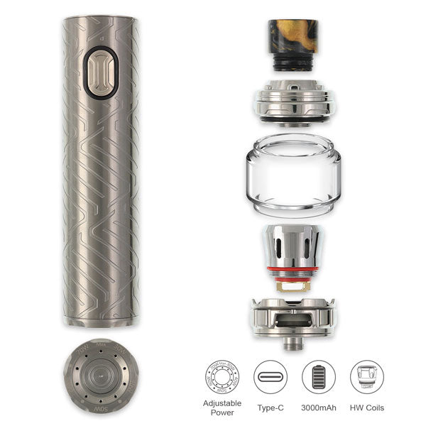 Eleaf iJust 3 Pro comes comes with the 0.15ohm and 0.2ohm Mesh Coils, both feature the new mesh net coil technology, presenting an ultra flavourful taste with the huge clouds and a longer lifespan.