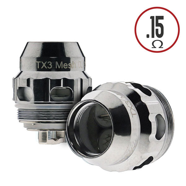 Fireluke TX3 0.15 ohm Triple Mesh Coil is rated for use between 50-90W, best at 80W