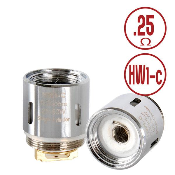 Eleaf HW1-C Coil Heads - 0.25ohm | Ceramic | Ello Tanks (5 pack)