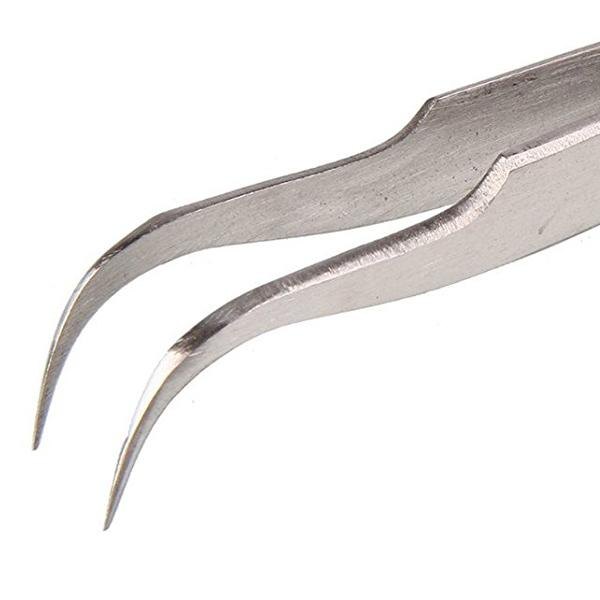 Stainless Steel Curved Vape Tweezers | Vetus HRC40