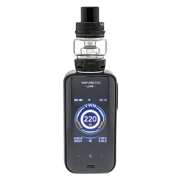 Vaporesso Luxe-S combines elegant aesthetic with beastly power. Luxe's 2'' full-view TFT screen with touch panel gives you a much wider and smoother space to play. The insta-Fire technology you've come to know and love delivers 0.001s firing rate. OMNI-Board 4.2 with 2.5A ultrafast charge technology is the perfect engine for this sophisticated cloud machine.