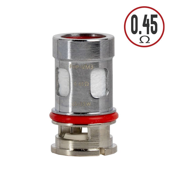 The VooPoo PnP-VM3 Replacement Coil similar to the PnP-VM1 coil has a single mesh core, but with a higher resistance to provide the same performance but at a lower wattage, which is excellent for nicotine salts. It also features a thread-less, plug design for convenient coil changes.