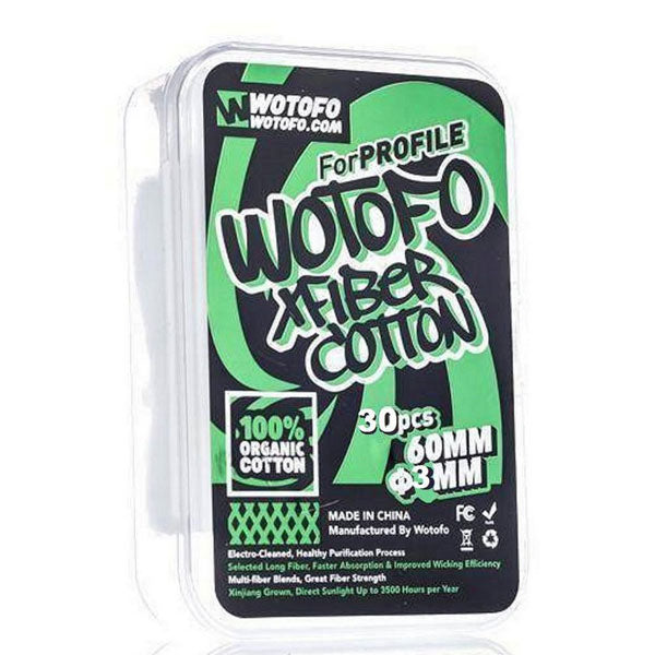 Wotofo Xfiber Cotton 3mm | 30 pcs