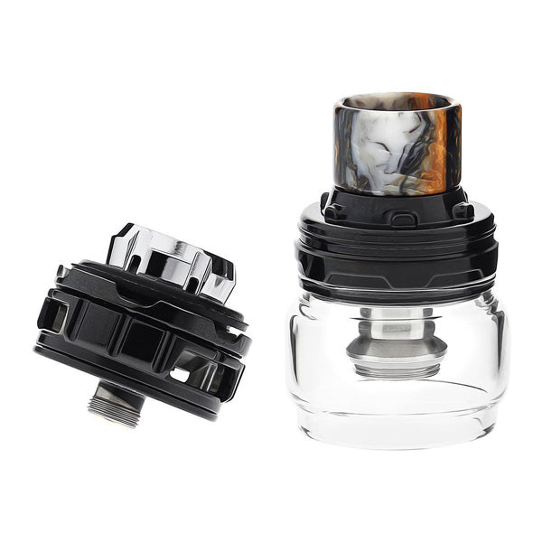 To fill this iJust 3 Pro tank, simply push the top-cap backwards in the direction as indicated by the marking on the top-cap. Sliding open, the ELLO Duro reveals an easily-accessible single top-filling fill port that offers fast filling and painless re-filling.