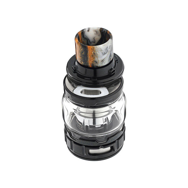 The ELLO Duro Sub-Ohm Tank is the first tank of its kind, showcasing a sleek and stylish Stainless Steel construction that matches elegantly with its bulbous heat-resistant convex glass tube. The compact form-factor of the ELLO Duro measures only 51.2mm from drip tip to base, 28mm at its widest, and is 25mm in diameter.