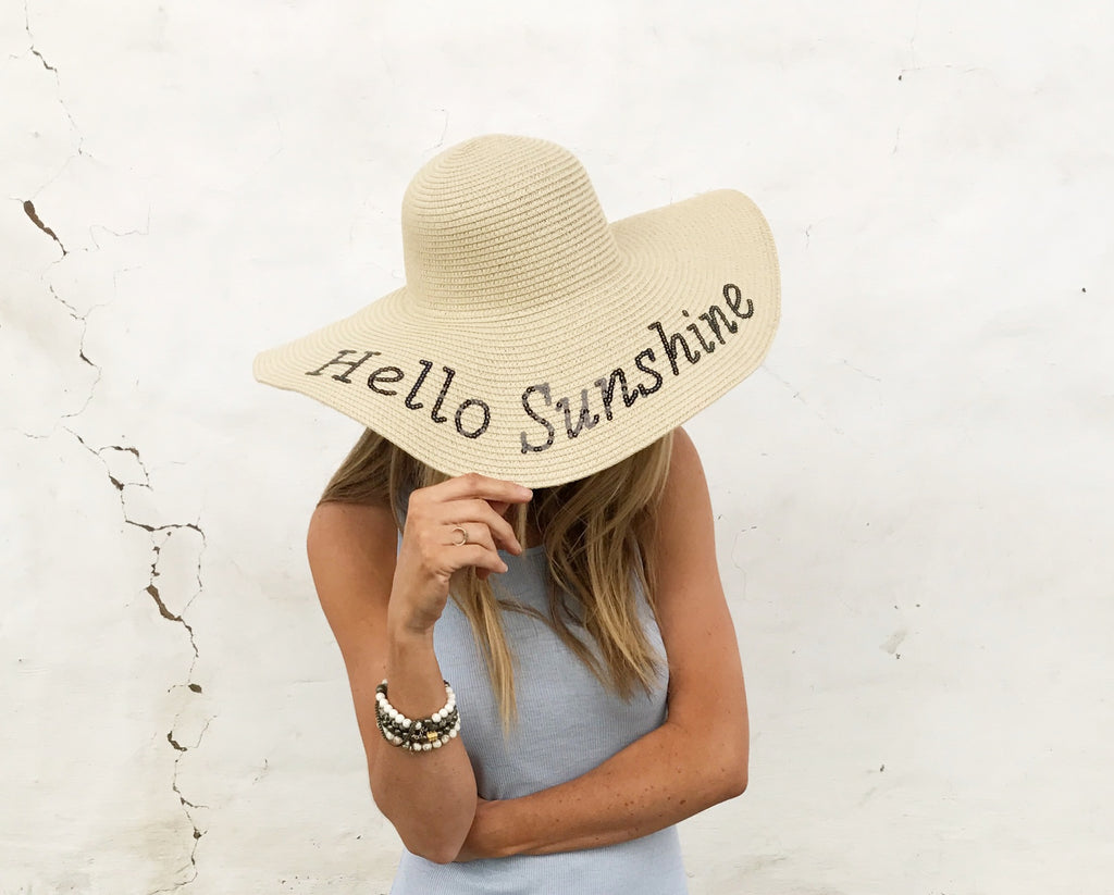 Hello Sunshine Straw Hat