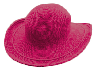 C3 Cotton Crochet Hat-Fuchsia Pink