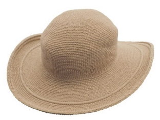 C3 Cotton Crochet Hat-Tan