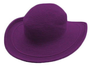 C3 Cotton Crochet Hat-Iris Purple