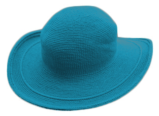 C3 Cotton Crochet Hat-Teal