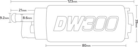 DW300  FUEL PUMP con KIT montaggio universale - f-tech-motorsport-shop