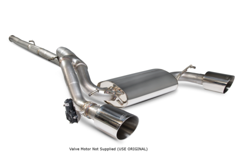 FOCUS RS MK3 SCORPION EXHAUST CAT BACK SYSTEM WITH NO VALVE - f-tech-motorsport-shop
