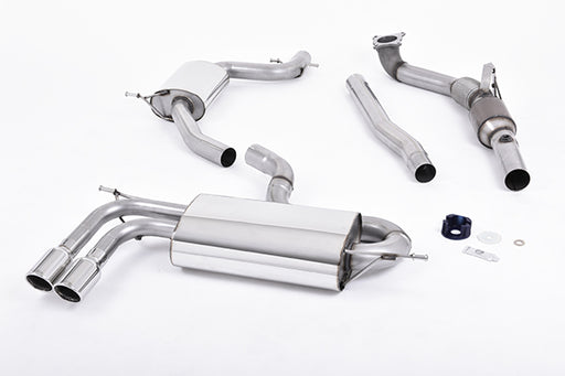 Milltek: Turbo-back (sistema completo) con Cat sportivo per Audi A3 (2008-2012) - f-tech-motorsport-shop