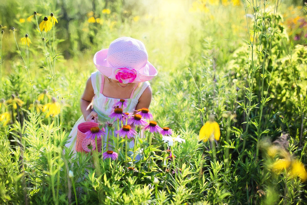 Little Girl with Wildflowers